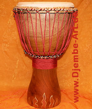 Golden Flame  Premium Trommel von Djembé Art