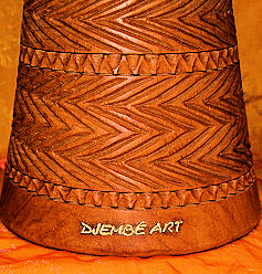 Djembe Art Drum Superior Class Carving