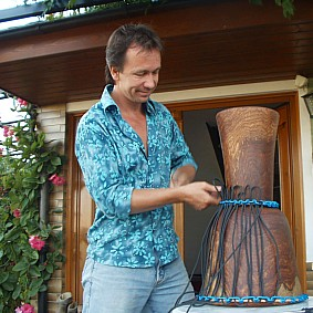 Gavin Grosvenor Repair service on Djembe and other drums